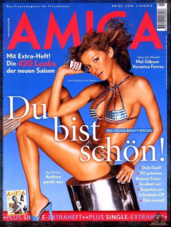 Gisele Bundchen German magazine Amica cover (2000-08)