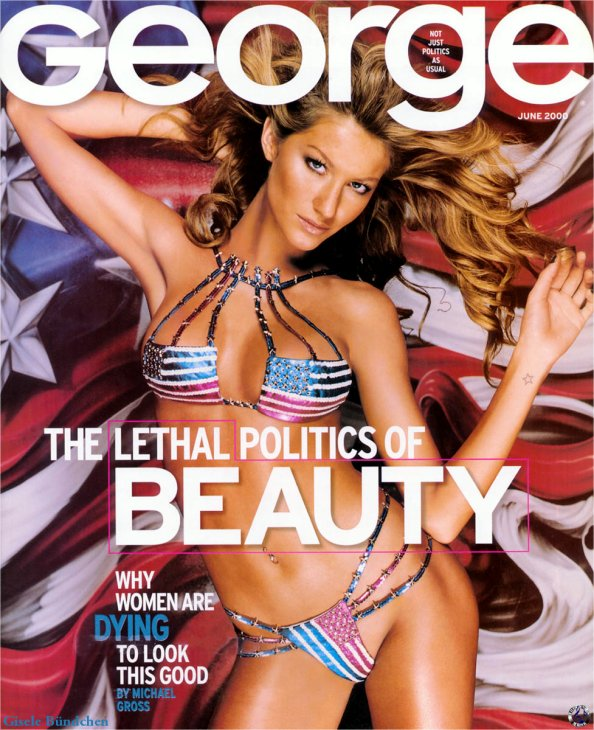 George mag cover Gisele Bundchen