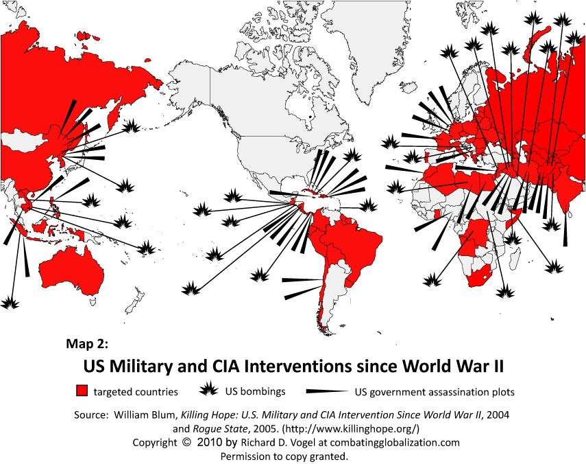 Killing Hope USA CIA Interventions map